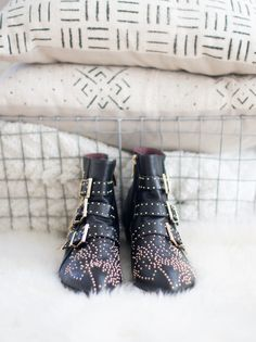 The Look for Less: Chloé Susanna Studded Booties (these beauties are $129.99, compared to the $1,350 pricetag.)
