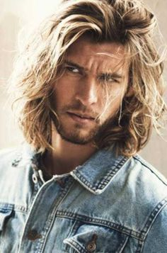 Men Long Wavy Hair