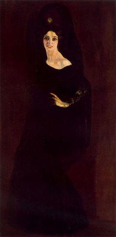 Hermenegildo Anglada Camarasa (Barcelona, 1871-1959) ~ La dama negra. 1913
