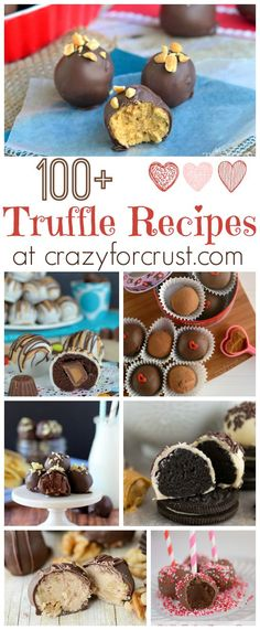 Over 100 Truffle Recipes perfect for any holiday ~ crazyforcrust . Fudge, Candy Recipes, Sweet Recipes, Dessert Recipes, Pasta Recipes, Just Desserts, Delicious Desserts, Yummy Food, Healthy Food