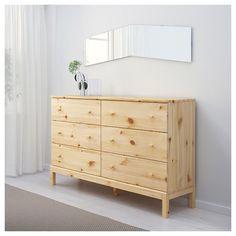 Ikea Tarva Dresser, Dresser Storage, Dresser As Nightstand, Dresser Drawers, Bedroom Storage, Dressers, Ikea Malm, Wide Chest Of Drawers, 6 Drawer Chest