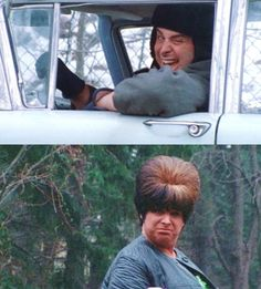 Divine as Dawn Davenport and Earl Peterson from John Waters' Female Trouble, 1974 #Divine #DawnDavenport #EarlPeterson #JohnWaters #FemaleTrouble