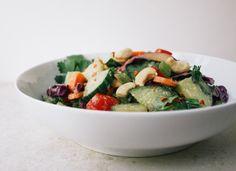 THE SIMPLE VEGANISTA: Cucumber Salad + Peanut Citrus Dressing