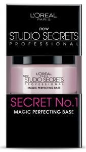 L'Oreal Studio Secrets Magic Perfecting Base (primer) Love it!      THIS IS A GREAT PRIMER/COVER UP.  NOT DRYING, LEAVES SKIN FEELING SOFT.