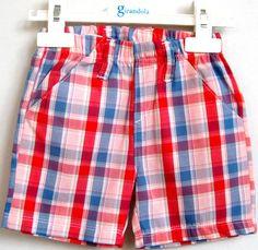 Plaid Shorts, Patterned Shorts, Baby Boy Fashion, Kids Fashion, Short Niña, Checker Print, Chor, Couture, Baby Love