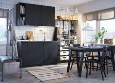 METOD/KUNGSBACKA keuken | IKEA IKEAnederland IKEAnl keukenfronten grijs duurzaam koken eten milieu recycle inspiratie keuken diner keukentafel nieuw