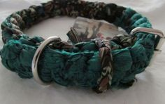 Handmade Dog COLLAR // Boho Hippie style // Woven by Nepal quake Victims // Brimming with Positive Spiritual Energy // Emerald & Black Multi