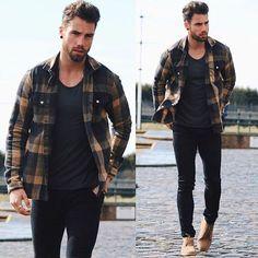 Camisa Xadrez. Macho Moda - Blog de Moda Masculina: CAMISA XADREZ MASCULINA: Como Usar e Onde Encontrar? Como usar Camisa Xadrez, Dicas para usar Camisa Xadrez,  Desert Boot Bege, All Black, Camisa Xadrez Aberta