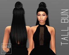 Sims 4 CC's - The Best: Accessory Hair Buns by Simpliciaty