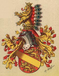 Principality of Kyburg [now in Thurgau, Switzerland], by Hugo Gerhard Ströhl, 1890.