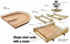 Seat Scooping Jig - Furniture Components Projects and Techniques - Woodwork, Woodworking, Woodworking Plans, Woodworking Projects