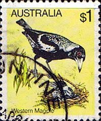 Australia 1980 Black Backed Magpie Fine Used SG 740 Scott 739    Other Australian Stamps HERE
