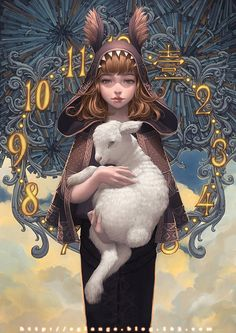 无辜  - lange__涂鸦王国 #girl #clock #fantasy