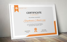 Modern MS Word certificate template by Inkpower on @creativemarket