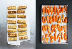 Crispy Tofu with Roasted Carrots and Snow Peas