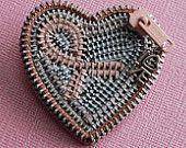 Breast Cancer Awareness Zipper Brooch
