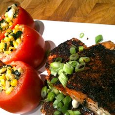 Try this blackened salmon with spicy creamed corn and roasted potato wedges!    [amd-zlrecipe-recipe:278]