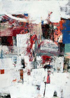 """Saatchi Art Artist: Julie Schumer; Acrylic 2011 Painting """"White Landscape IV"""""""