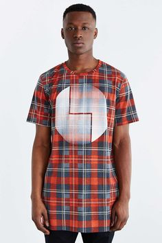 Poolhouse Cosmic Balance Plaid Tee
