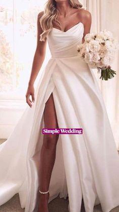 Slit Wedding Dress, Long Wedding Dresses, Bridal Dresses, Wedding Gowns, Bridesmaid Dresses, Designer Wedding Dresses, Bridal Gown, Fantasy Wedding, White Bridal