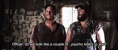 Friday Flix: Tucker and Dale vs. Evil<<< this movie is hilarious! Tucker And Dale Vs Evil, Sarcastic Person, Evil Quotes, Latest Movie Trailers, Best Horrors, Movies And Tv Shows, I Laughed, Movie Tv, Fangirl