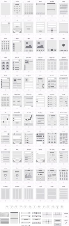 Mobile App Visual Flowchart Illustrator Template – UX Kits #ux #webdesign