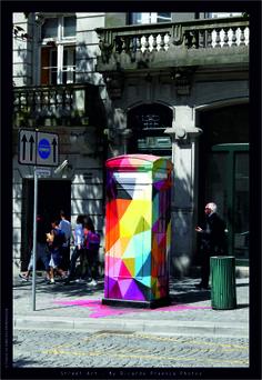 ◊ StreetArt Axa Porto ◊ □ Autor: ◊ OKUDA SAN MIGUEL ◊ □ Local: Avenida dos Aliados - PORTO □ Fotografia: Ricardo Proença - Photos  #streetart #axaporto #graffiti #photography #porto #portugal #graffitiart #graffitiphotography