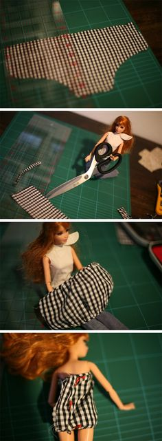BuonaSeraBaby - up cycling baby bloomers to barbie clothes... Tutorial!