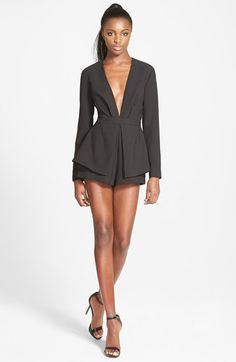 Finders Keepers the Label 'Next in Line to Take a Bow' Peplum Romper available at #Nordstrom