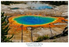 The Grand Prismatic Spring in Yellowstone National Park is the largest hot spring in the United States.