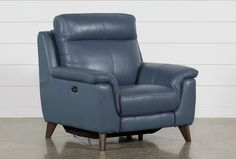 Blue Leather Sofa, Leather Chairs, Leather Recliner Chair, Leather Sofas, Black Leather, Small Recliners, Power Recliners, White Dining Chairs, Blue Chairs