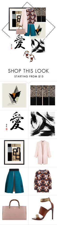 """China inspired"" by linsarah ❤ liked on Polyvore featuring DK Living, Universal Lighting and Decor, Surya, Miss Selfridge, Roksanda Ilincic, Gucci and Jenni Kayne"