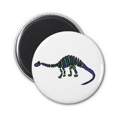Abstract Art Brontosaurus Dinosaur Refrigerator Magnets #dinosaurs #magnets #art #funny #zazzle #petspower