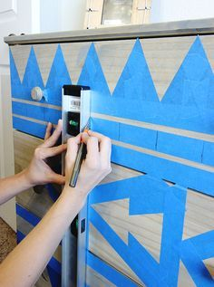 Absolutely fabulous and easy DIY Tribal Dresser Makeover. This DIY Makeover … - All For Home İdeas
