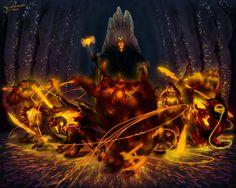 The Balrogs of Morgoth. Spirits of fire that followed Melkor into Arda. - the descriptions in the silmarillion are much more menacing than in fellowship. especially in the fall of gondolin. epic mountain fight.