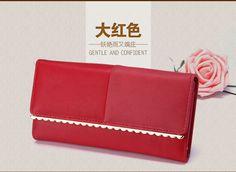 Ladies Women Wallets PU Leather Purses Long Wallet Women Elegant Female Red Women's Wallets Woman Leather Wallet PurseNS618