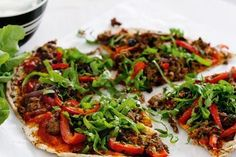 Grab a big bite of this mouth-watering Spicy Lamb Flatbread Pizzas with Berbere Spice recipe. It's rich with nutrients and packed with bursting flavors. Flatbread Pizza Recipes, Lebanese Recipes, Italian Recipes, Vegetable Pizza, Spicy, Hot, Ethnic Recipes, Lamb Recipes, Healthy Recipes