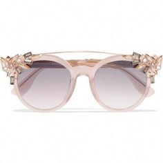 861b23107a52a JIMMY CHOO VIVY 20TH Grey Round Framed Sunglasses with Detachable ...