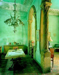 Decayed aqua walls