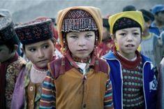 School children, Xinjiang, China.