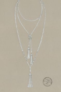 ffe9cd54042b A sketch for a pearl necklace from The Great Gatsby Collection. Style Année  20,