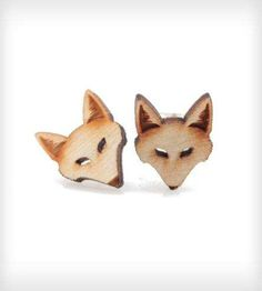 These Animal Earrings are Shaped Like Tiny Furry Foxes trendhunter.com
