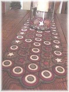 Hmm . . . I could do one of these for my dining room table!