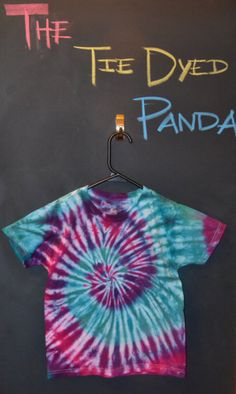 OMG THERE IS ONLY ONE LEFT GET IT WHILE THEY ARE STILL HERE!! Kids Tie Dye Medium TShirt Blue & Purple Swirl by TheTieDyedPanda, $14.00