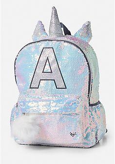 Shimmer Unicorn Initial Backpack