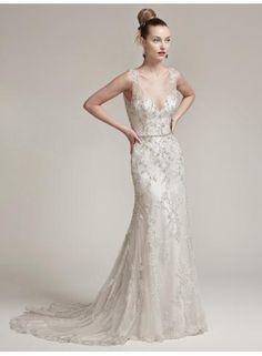 154a0f2545b0 abiti da sposa guaina di Tulle di Applique Vestiti Da Cerimonia Nuziale