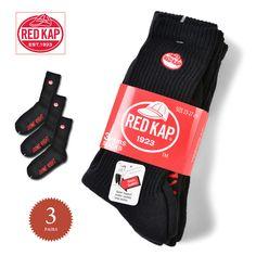 【楽天市場】RED KAP レッドキャップ MJ-SO01J-0159 クルーソックス 3足セット BLACK メンズ RED KAP レッドカップ 靴下 厚手 肉厚 mss WIP 新生活:ミリタリーセレクトショップWIP