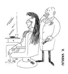 Caricatura de A. VASILIU, publicata in almanahul PERPETUUM COMIC '97 editat de URZICA, revista de satira si umor din Romania