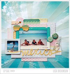 #papercraft #scrapbook #layout. Crate Paper | CP Gal Lisa Dickinson | Mexico via the Open Road collection