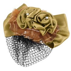 Olive Green Hair Ornament Hair Clip Snood Net Barrette Bun Cover for Lady *** To view further for this item, visit the image link.